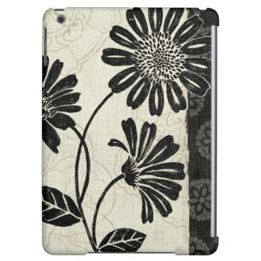 Contemporary Florals in Black and White iPad Air Case