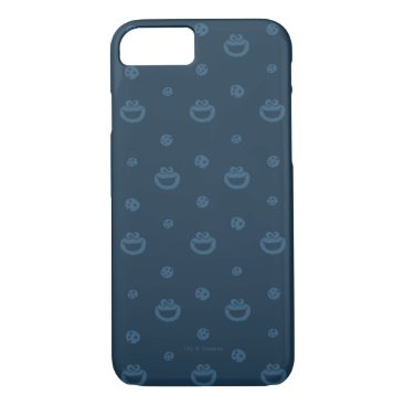 Cookie Monster and Cookies Blue Navy Pattern iPhone 8/7 Case
