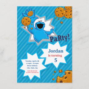 cookie monster invitations zazzle