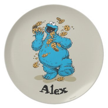 Cookie Monster Crazy Cookies | Add Your Name Melamine Plate