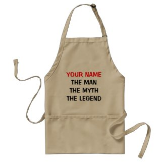 Cool BBQ apron for men | The man myth legend