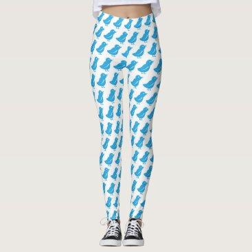 Cool Blue Tweet Bird Fashion Leggings