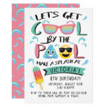 Cool by the Emoji Pool Birthday Party Invitation