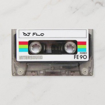 Cool Cassette Tape Business Cards for DJ's