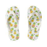 Cool Colorful Pineapple Kids Flip Flops