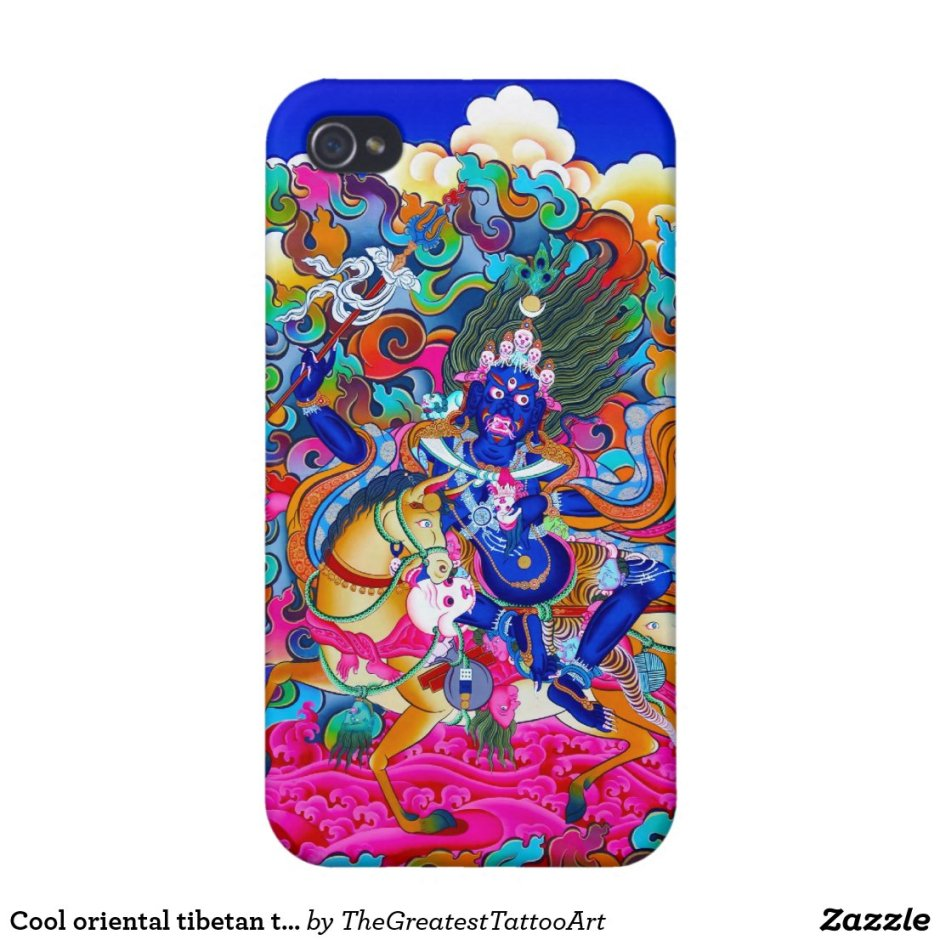 Cool oriental tibetan thangka too Palden Lhamo iPhone Case
