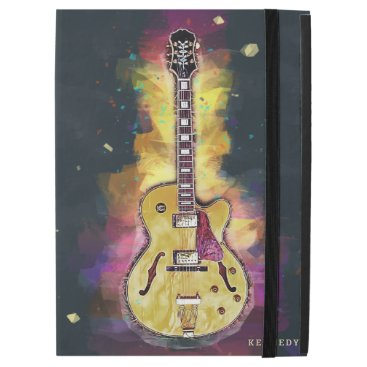 """Cool Rock and Roll Band Guitar Art iPad Pro 12.9"""" Case"""