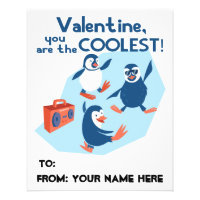 Coolest Valentine Dancing Penguins Boys Kids Flyer