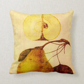 Copper Pear Throw Pillows