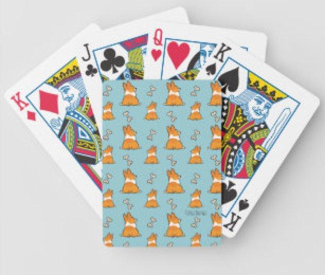 Corgi Butt Bicycle Premium Playing Cards