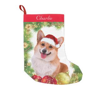 Corgi Holiday Small Christmas Stocking