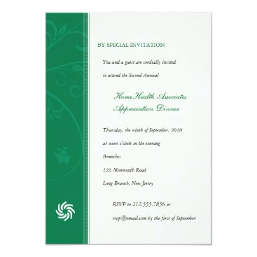 Corporate Vines Emerald Invitation