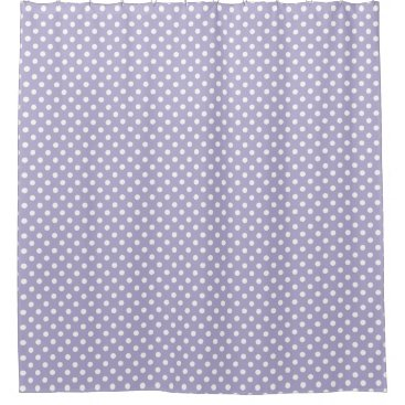Cosmic lavender/purple polka dots shower curtain