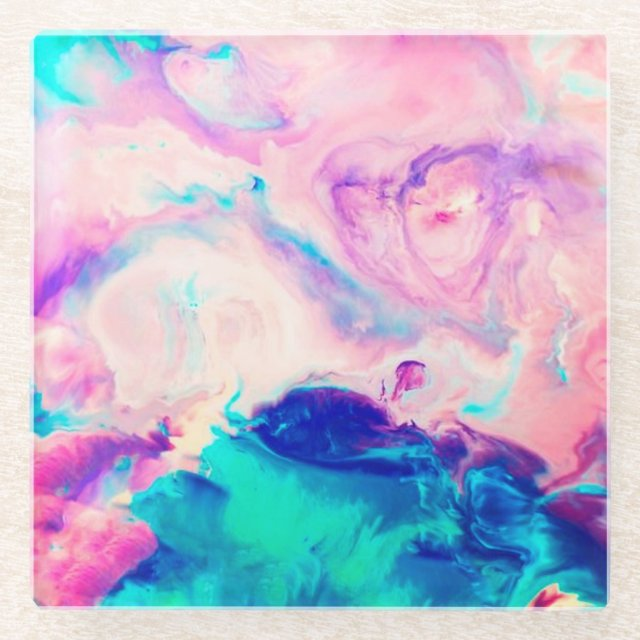 Cotton Candy Signature Marble Glass Coaster