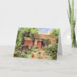 ❤️  Sweet Rustic Country Barn Scene Happy Birthday Card