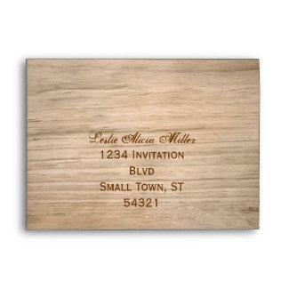 Country Wooden Rustic Envelope