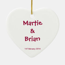 Couple's Love (Personalize) - Heart Ornament
