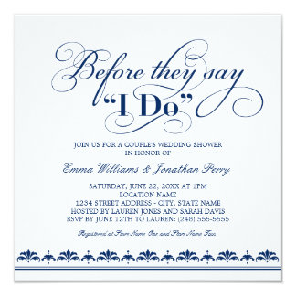 Couple 39 S Wedding Shower Invitation Vows