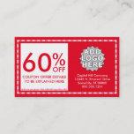 coupon. (color customizable) discount card