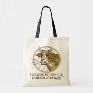 Cow Milk Out My Nose Tote Bag