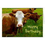 ❤️ Simple Happy Birthday From The Cows Birthday Card