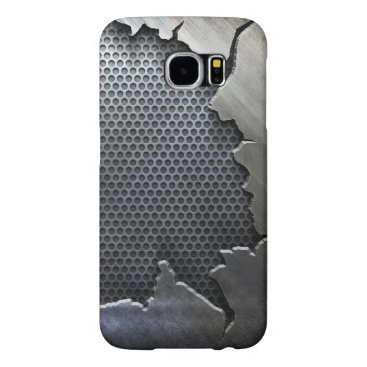 Cracked Metal Samsung Galaxy S6 Case