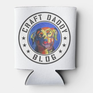 Craft Daddy Blog Merchandise Logo Koozie