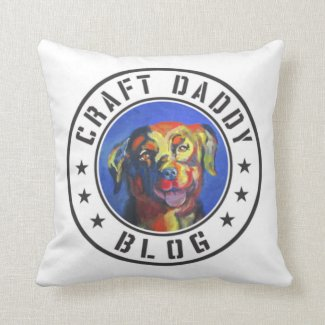 Craft Daddy Blog Merchandise Logo Pillow