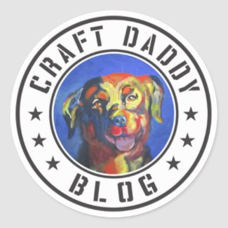 Craft Daddy Blog Merchandise Logo Stickers