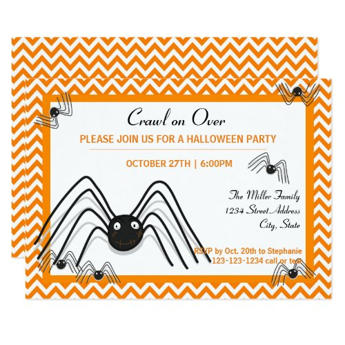 Crawl on Over - 3x5 Halloween Party Invite