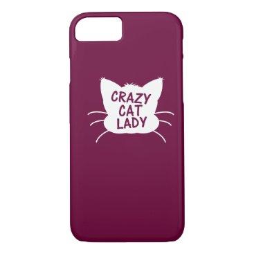 Crazy Cat Lady iPhone 8/7 Case
