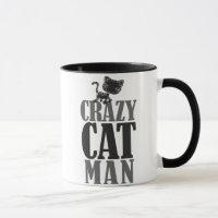 Crazy Cat Man Mug