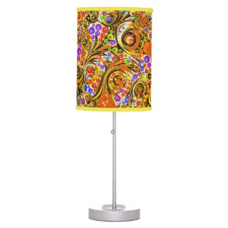 Crazy Twisted Abstract Beautiful Colors Table Lamp