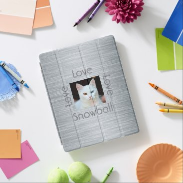 Create Your Own Cat Photo with Name Modern iPad Smart Cover