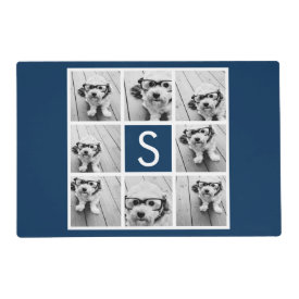 Create Your Own Instagram Collage Custom Monogram Laminated Placemat
