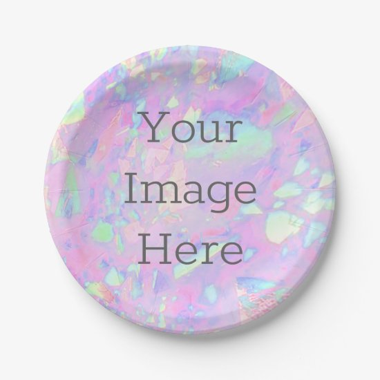 Create Your Own Iridescent Opal Faux Holographic Paper Plate