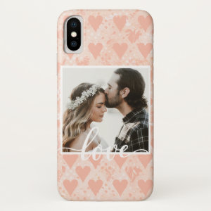 Create Your Own Love Hearts in Rose Gold iPhone X Case