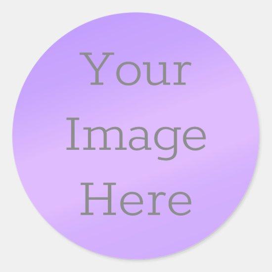 Create Your Own Metallic Lilac Purple Faux Foil Classic Round Sticker