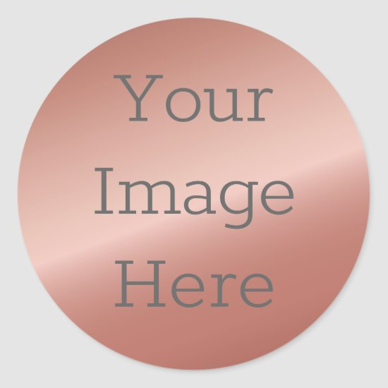 Create Your Own Metallic Rose Gold Faux Foil Classic Round Sticker