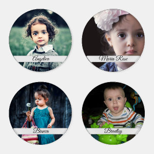 Create Your Own Personalized Photo Coaster Set