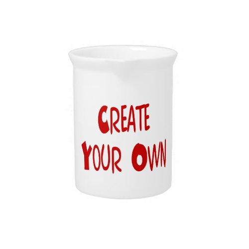 Create your own pitcher pitcher
