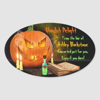 Creepy Jack O'Lantern Halloween Baking Labels Stickers