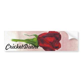 CricketDiane Elegant Rose bumpersticker