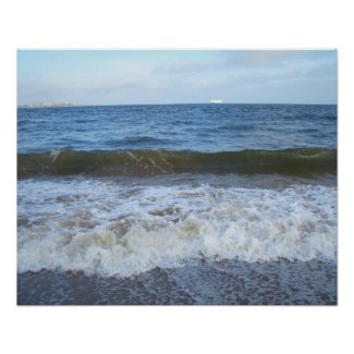 CricketDiane Ocean Poster - Gentle Shore Waves