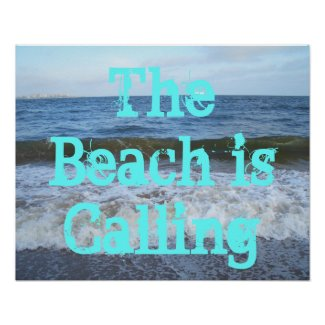CricketDiane Ocean Poster - The Beach is Calling