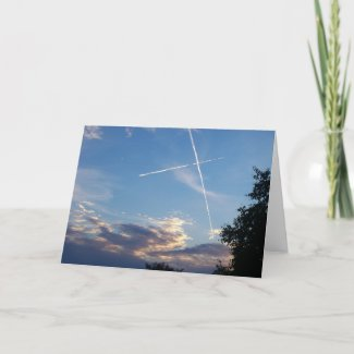 Cross at Sunset Card card
