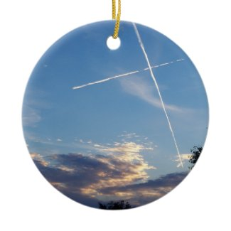 Cross at Sunset Ornament ornament