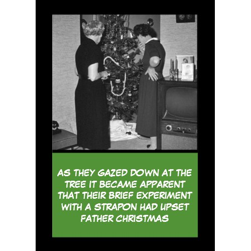 Crude Christmas card