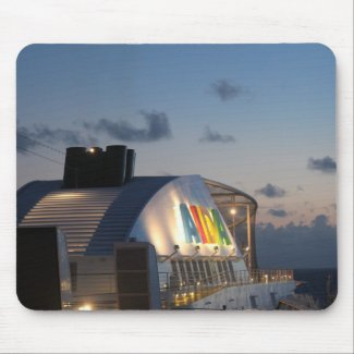 Cruise Ship AIDAluna - Caribbean Sunset Mouse Pad