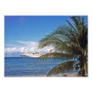 Cruise ship photo print
